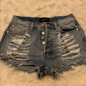MINKPINK Shorts - Minkpink Distressed Shorts